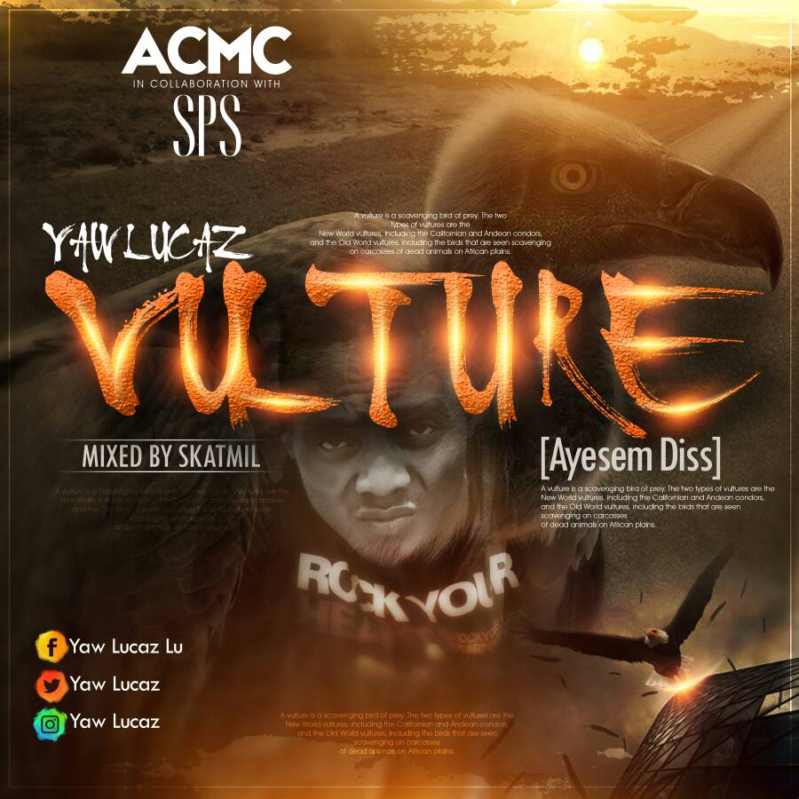 Photo of Yaw Lucaz – Vulture (Ayesem Diss) (Mixed By SkatMil)