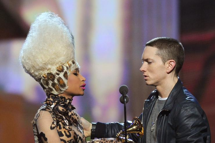 Photo of Nicki Minaj Alludes To Eminem Relationship In Response To Fan Comment