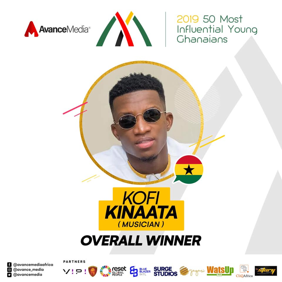 Kofi Kinaata 2019 Most Influential Young Ghanaian