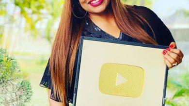 Photo of Gospel singer Sinach Awarded YouTube Gold Plaque