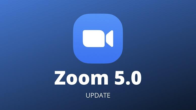 Zoom 5.0 update now