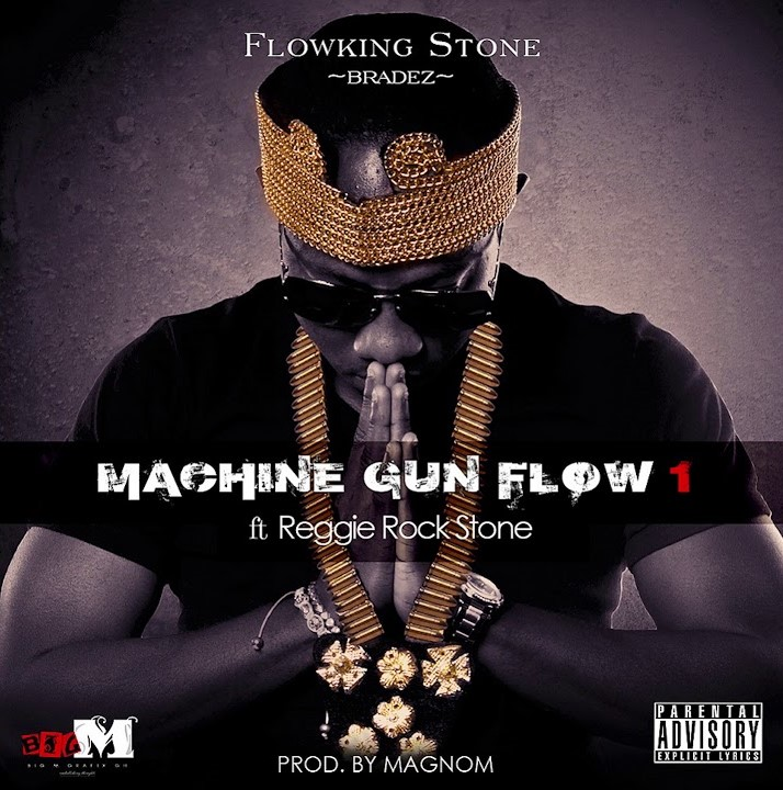 Photo of Flowking Stone – Machine Gun Flow ft. Reggie Rockstone (Prod. By Magnom)