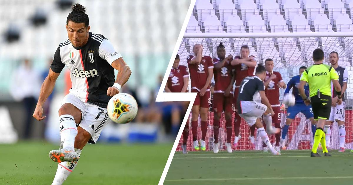 Cristiano Ronaldo Scores First Free-Kick in Italy