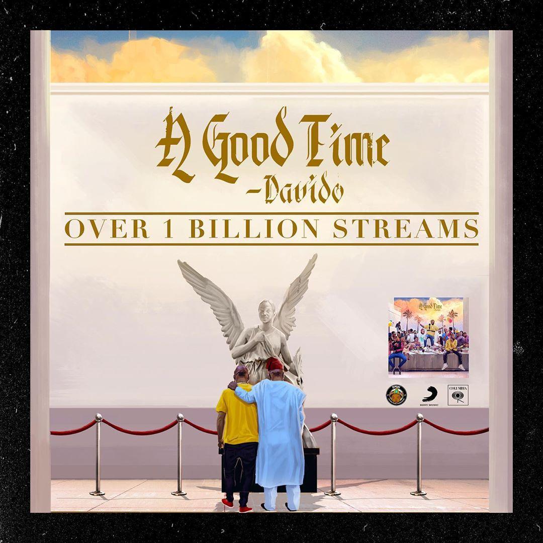 Davido A Good Time Album Reaches 1 Billion Streams