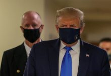 Photo of Donald Trump wears Face Mask in Public for the First Time