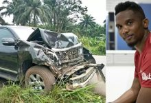 Samuel Etoo injured in a car accident