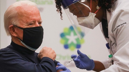 Joe Biden receives Covid-19 vaccine on live TV