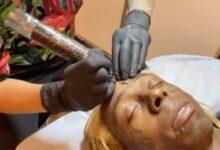 Lil Wayne Gets Cross Face Tattoo Restored