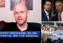 Spotify CEO Very Serious About Arsenal Takeover Bid